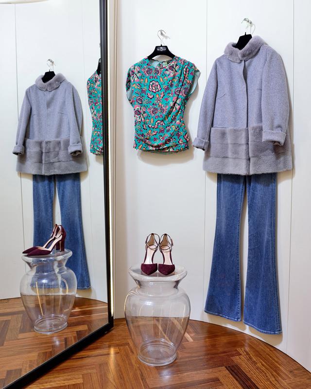 Top de Etro 100% seda. Chaqueta de Her - Colección Moda Otoño Invierno 2017 / 2018