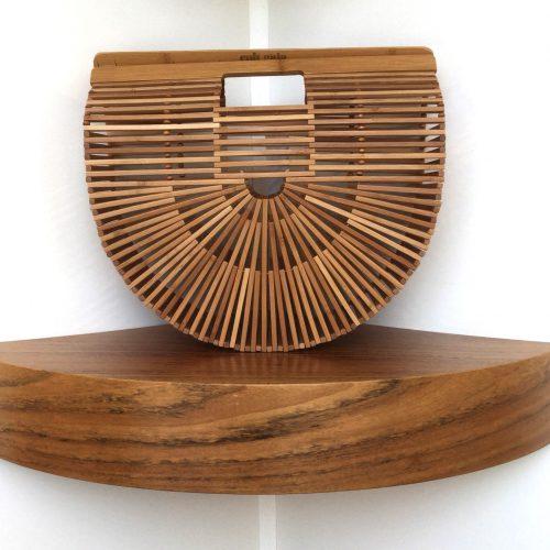 Bolso Cult Gaia grande de madera de Bamboo - Upscale Store Valencia Patos