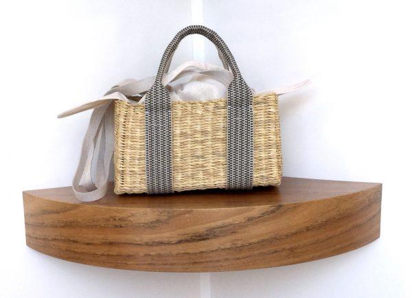 Bolso Muuñ de paja Manon K Cotton, tamaño mini e interior de algodón