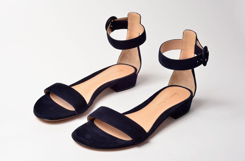 Sandalia plana de Gianvito Rossi negra