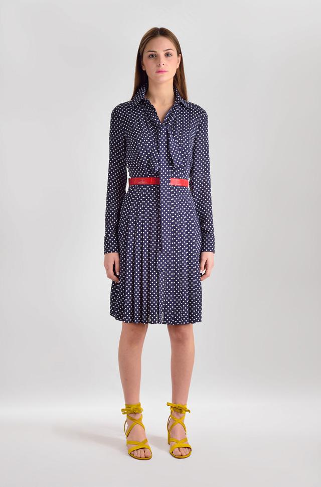 Vestido de Michael Kors Collection 100% seda y sandalias de Gianvito Rossi  - Colección Moda Primavera Verano 2017