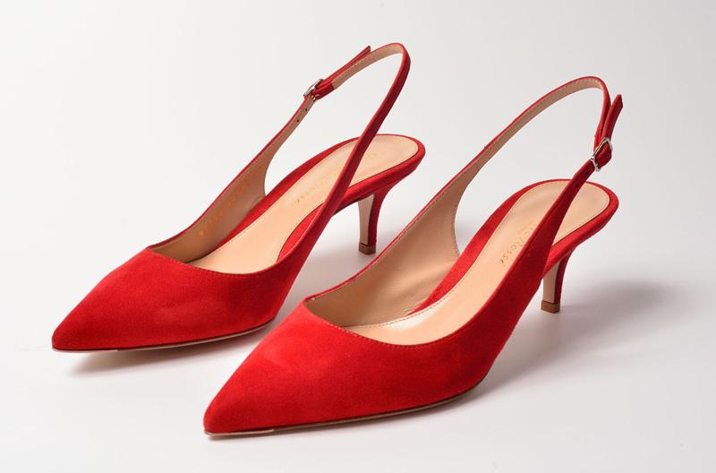 Zapato de salón y tacón alto de Gianvito Rossi rojo tabasco