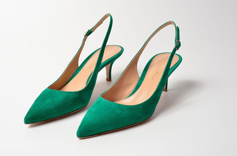 Zapato de salón y tacón alto de Gianvito Rossi color verde esmeralda