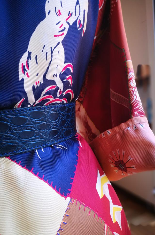 Conjunto pijama de Etro de seda; Cinturón piel de cocodrilo Reptile's House - Colección Otoño Invierno 2018 2019 - Patos Valencia