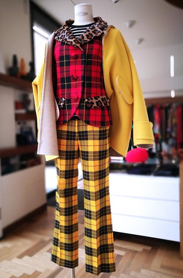 Michael Kors Collection tejido Harris: chaqueta, punto y Pantalón. Chaquetón Colombo - Colección Otoño Invierno 2018 2019 - Patos Valencia