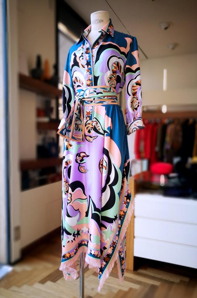 Vestido de Emilio Pucci estilo camisero de seda - Colección Otoño Invierno 2018 2019 - Patos Valencia
