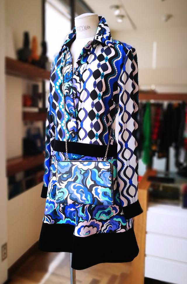 Vestido de Emilio Pucci 2018 2019 estampado panneau de seda, lana, tercipoelo y algodón - Patos Valencia