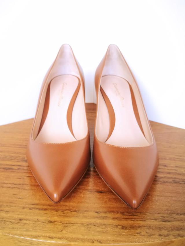 Zapato de salón de piel de Gianvito Rossi marrón
