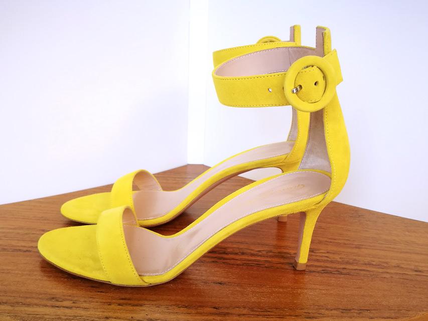 Zapato modelo Portofino de Gianvito Rossi color amarillo - PATOS Valencia