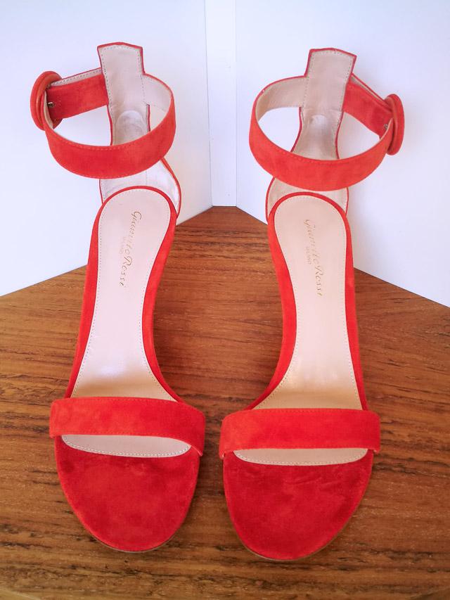 Zapato modelo Portofino de Gianvito Rossi color naranja - PATOS Valencia