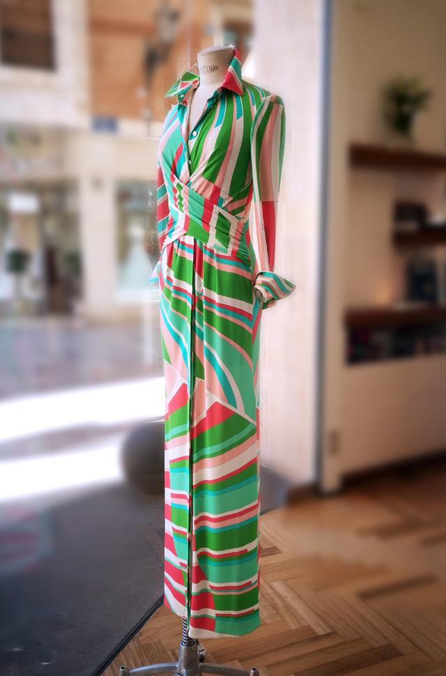 Vestido Emilio Pucci 2019 largo estampado - PATOS Valencia