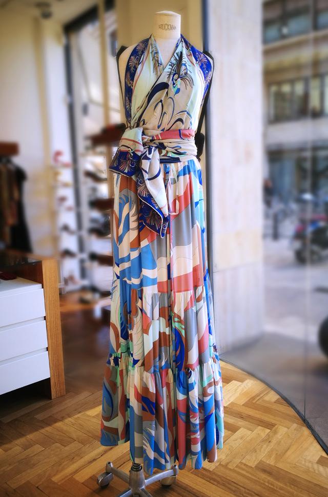 Vestido y top pañuelo de Emilio Pucci 2019 - PATOS Valencia