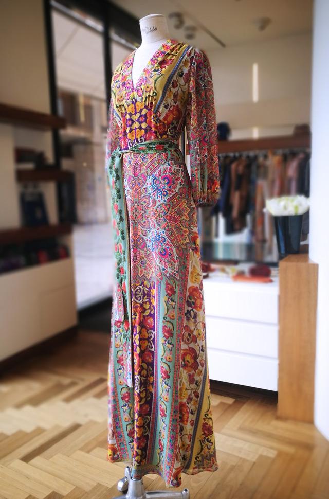 Vestido de Verónica Etro 2019 en Georgette de seda natural - PATOS Valencia