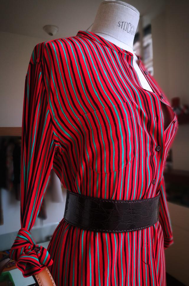 ASPESI  2019 Vestido camisero y bolso diseñado por Verónica ETRO - PATOS Valencia