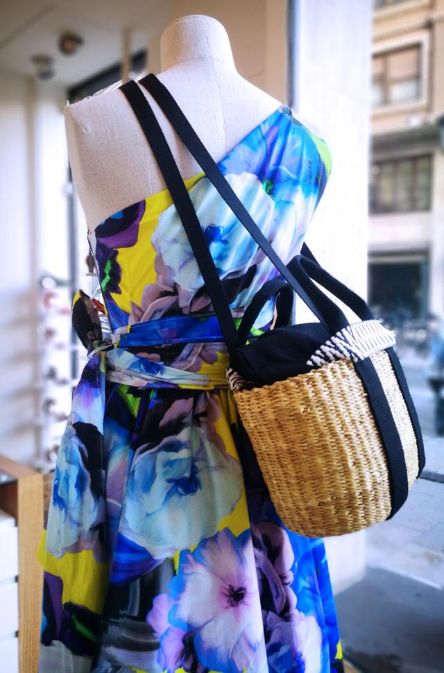 Vestido MSGM 2019 diseñado por Máximo Giorgeti y bolso de Muuñ - Patos Valencia