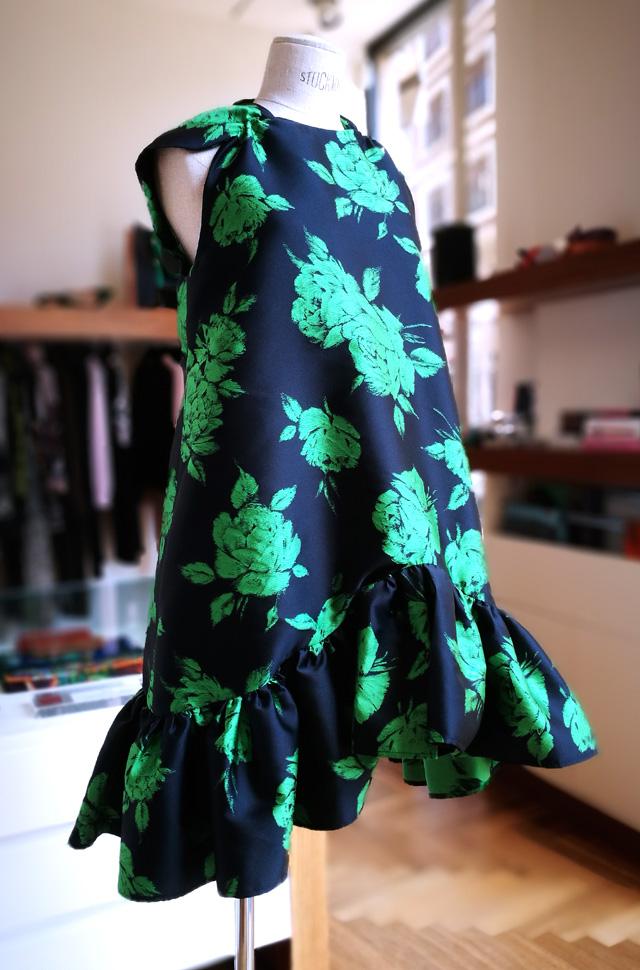 Vestido MSGM de Mássimo Giorgetti azul estampado verde - PATOS Valencia