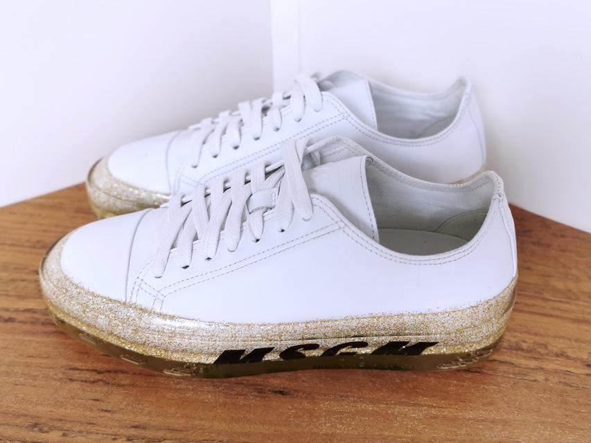 Sneakers de MSGM blancas y suela dorada - PATOS Valencia