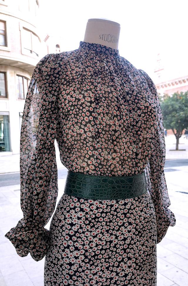 Camisa y falda de ROCHAS 2020 Primavera Verano, estampado de margaritas - PATOS Valencia