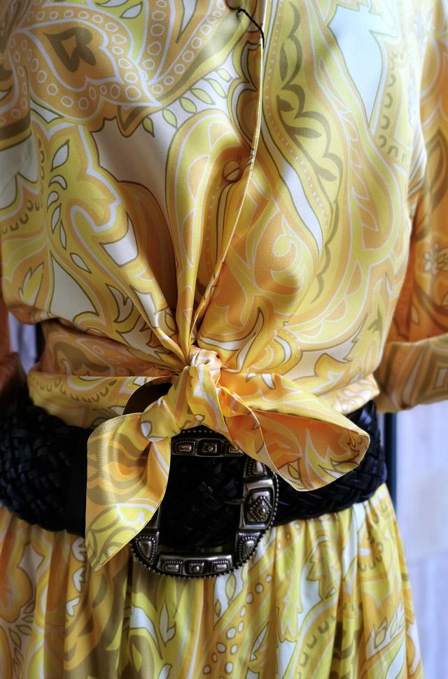 Conjunto ETRO falda y camisa amarillos primavera verano 2021 - PATOS Valencia