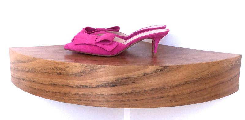 Zapato Gianvito Rossi tipo Mules 100% ante, color fucsia, tacón 5,5cms